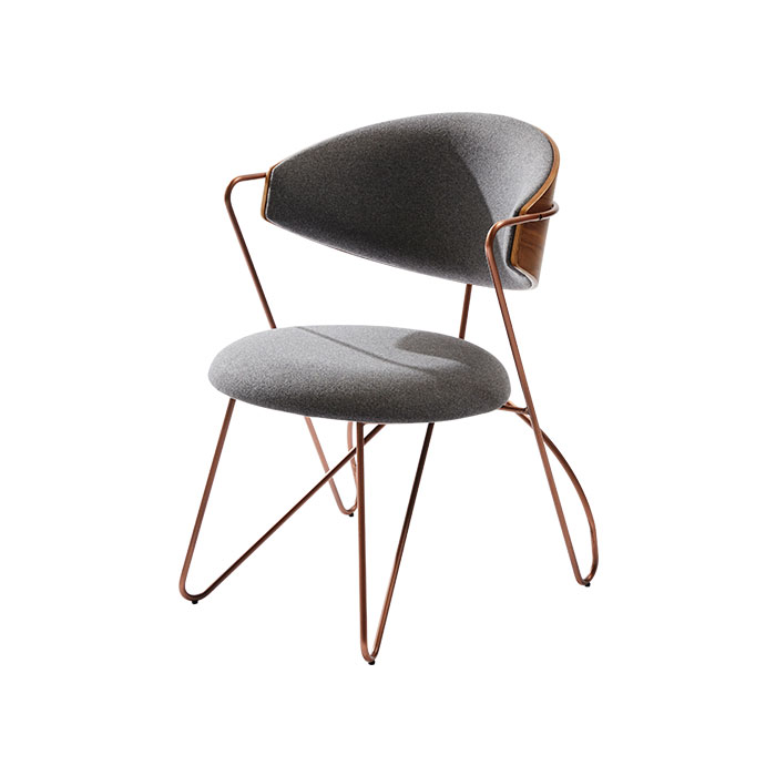 Loop Dining Chair - Gray Cashmere